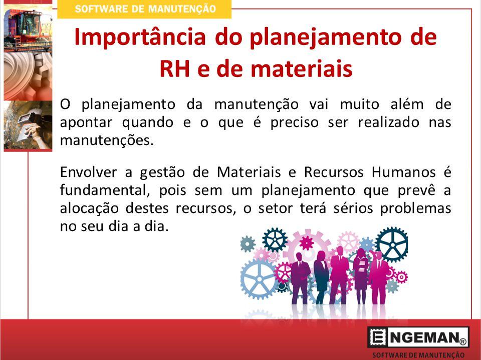 Importância do planejamento de RH e de materiais