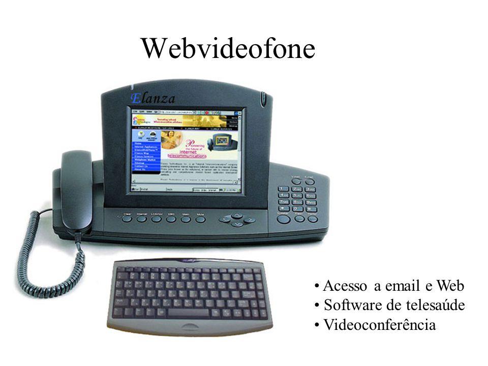 Webvideofone Acesso a email e Web Software de telesaúde
