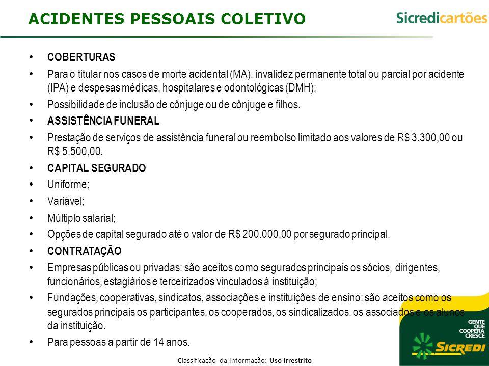 ACIDENTES PESSOAIS COLETIVO