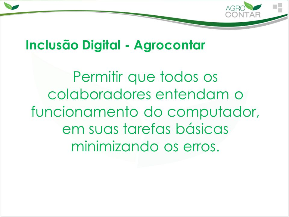 Inclusão Digital - Agrocontar