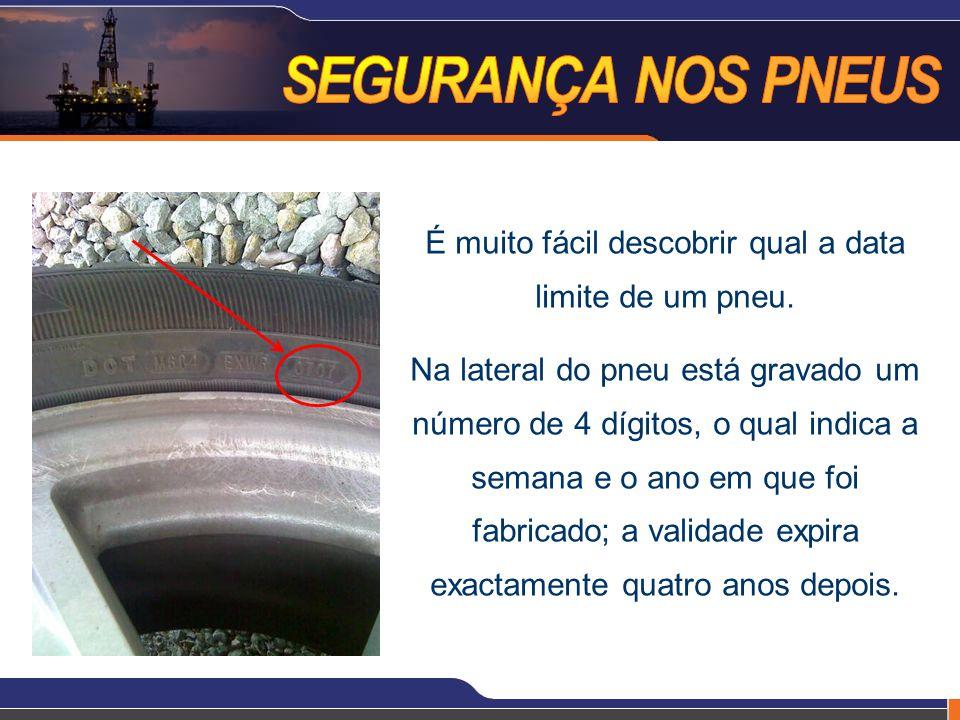 É muito fácil descobrir qual a data limite de um pneu.