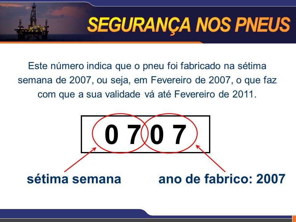 0 7 0 7 sétima semana ano de fabrico: 2007