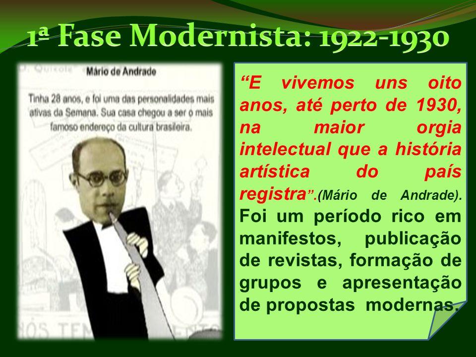 1ª Fase Modernista: 1922-1930