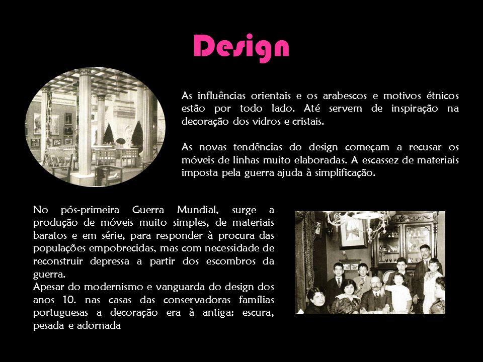 Design As influências orientais e os arabescos e motivos étnicos estão por todo lado. Até servem de inspiração na decoração dos vidros e cristais.
