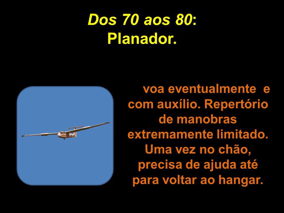 Dos 70 aos 80: Planador.
