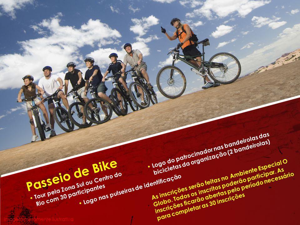 Passeio de Bike • Logo do patrocinador nas bandeirolas das