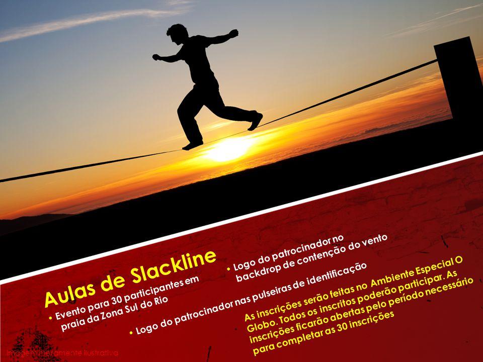 Aulas de Slackline • Logo do patrocinador no