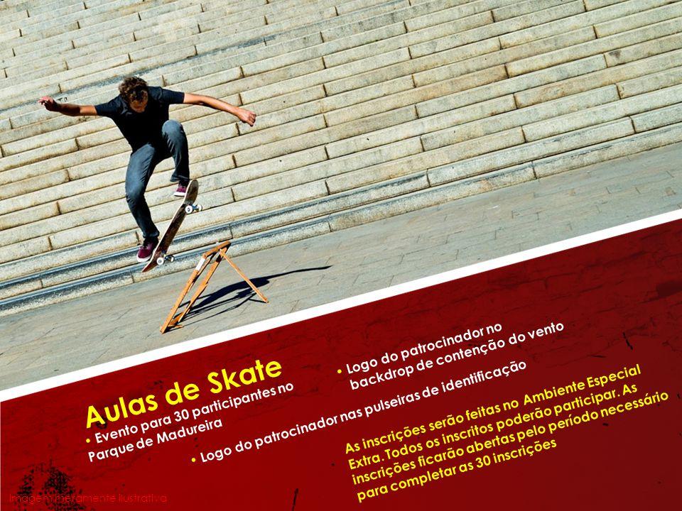 Aulas de Skate • Logo do patrocinador no