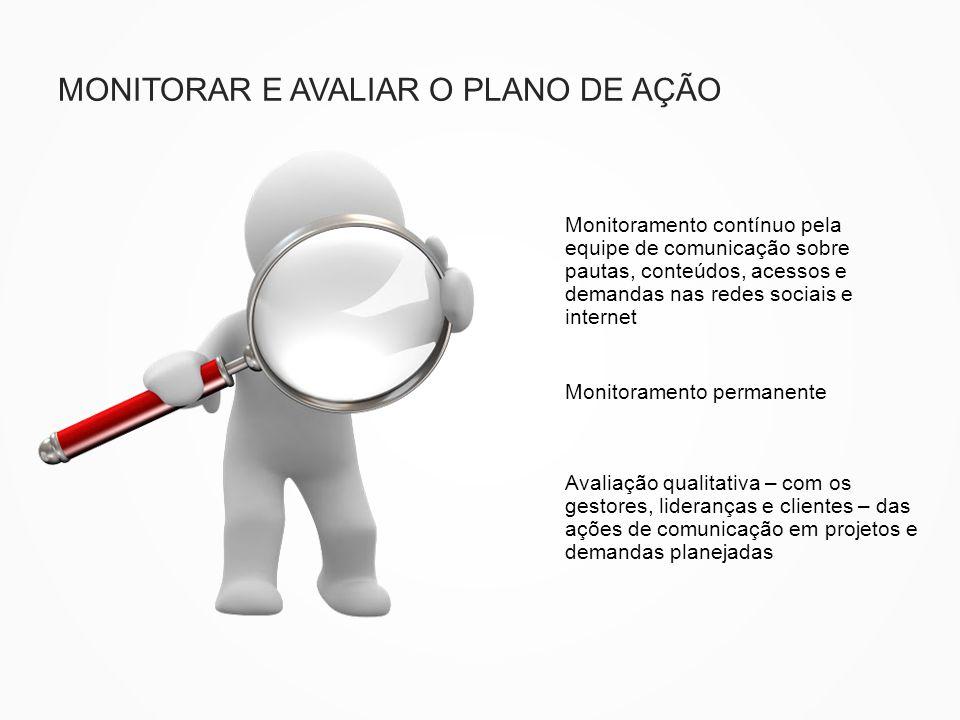 MONITORAR E AVALIAR O PLANO DE AÇÃO