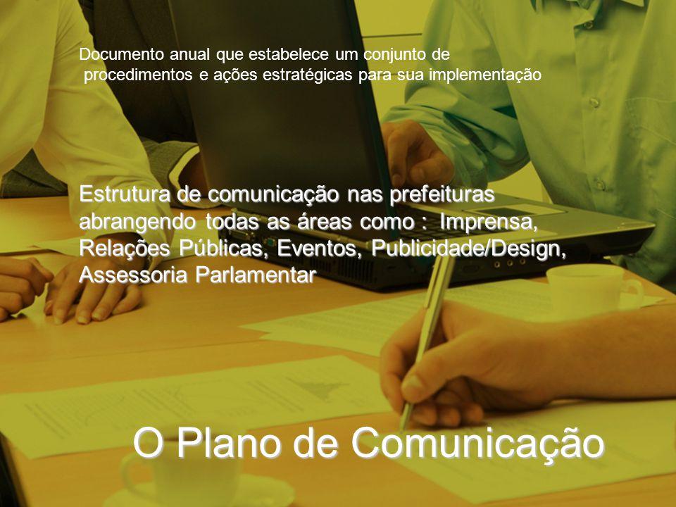 O Plano de Comunicação Estrutura de comunicação nas prefeituras