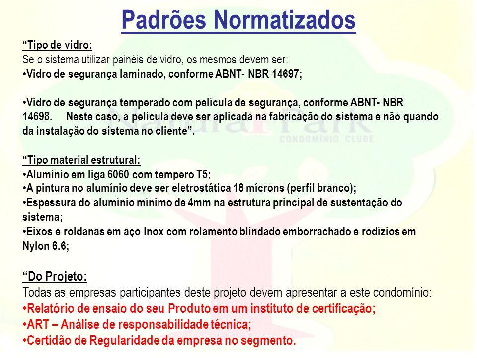 Padrões Normatizados Do Projeto: