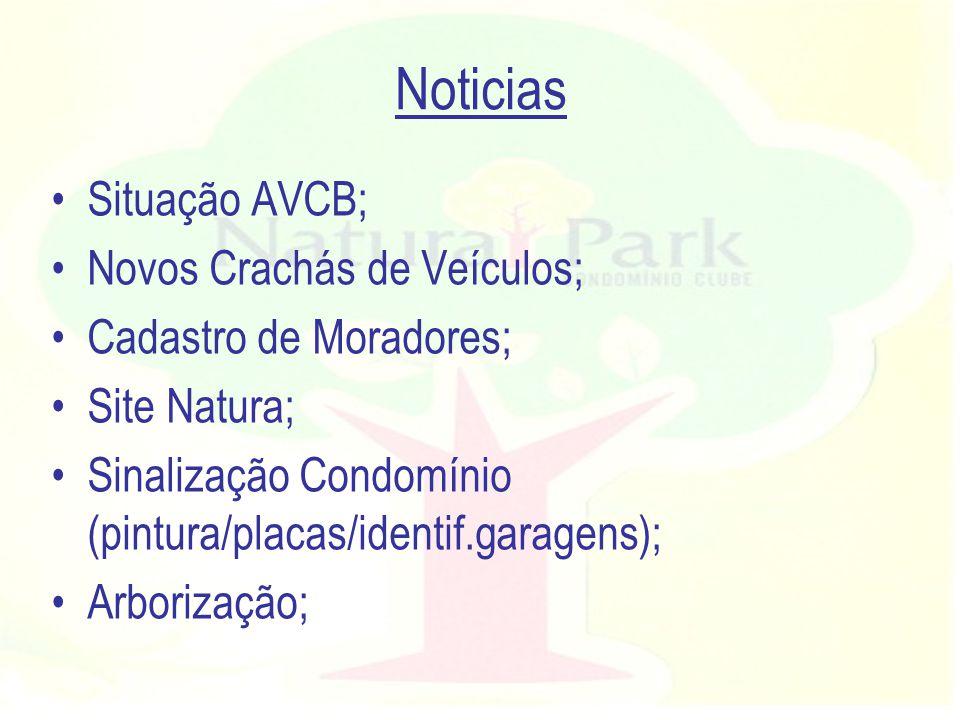 Noticias Situação AVCB; Novos Crachás de Veículos;