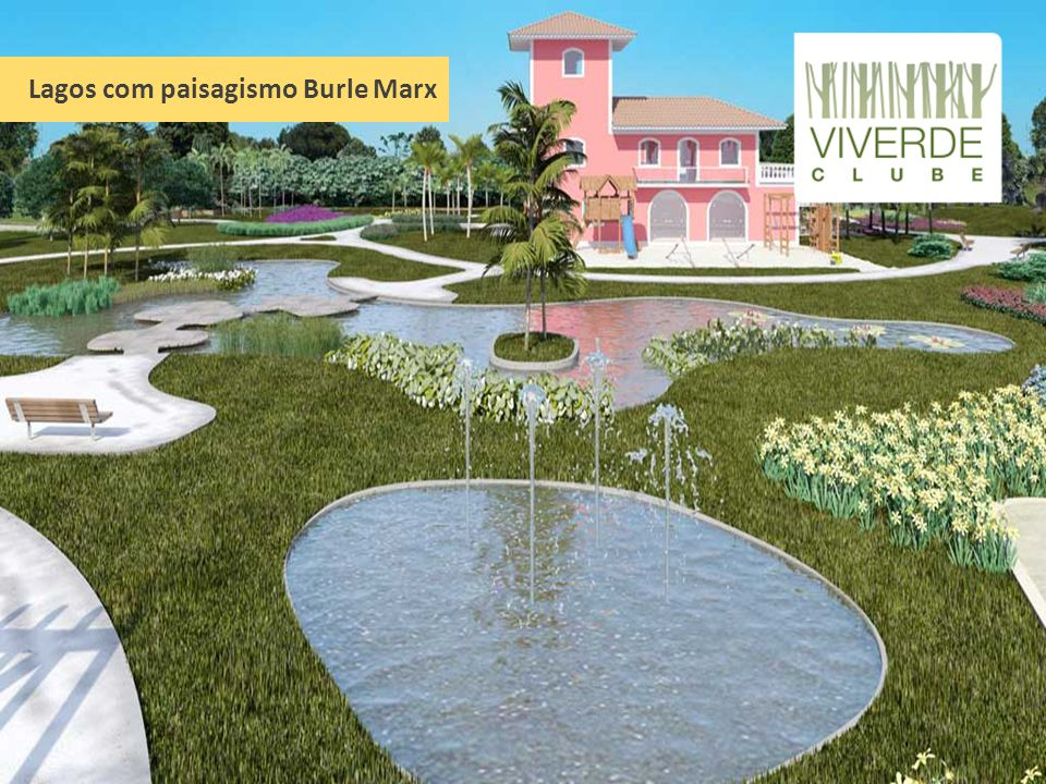 Lagos com paisagismo Burle Marx