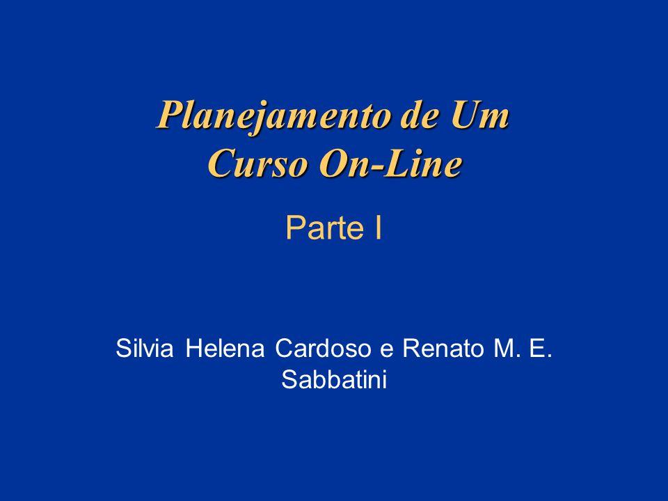Planejamento de Um Curso On-Line