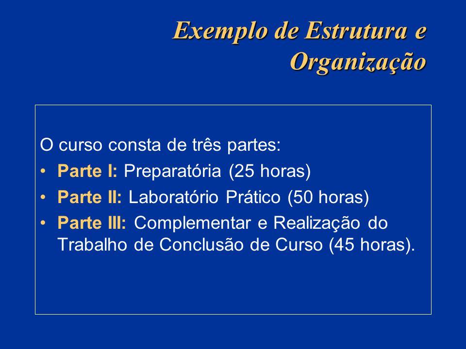 Exemplo de Estrutura e Organização