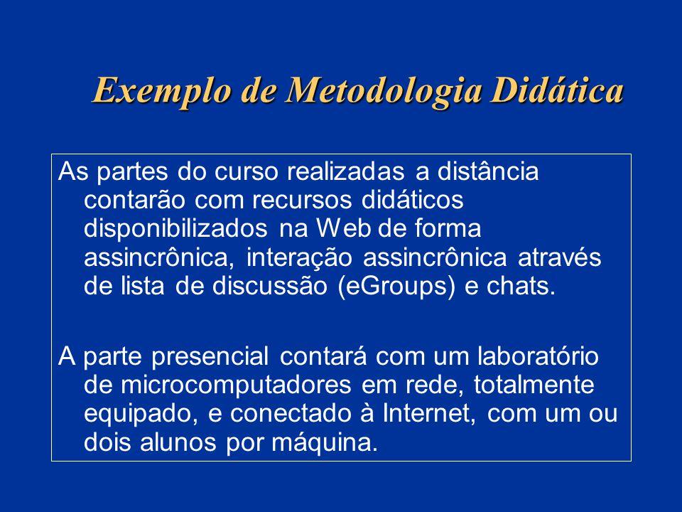 Exemplo de Metodologia Didática