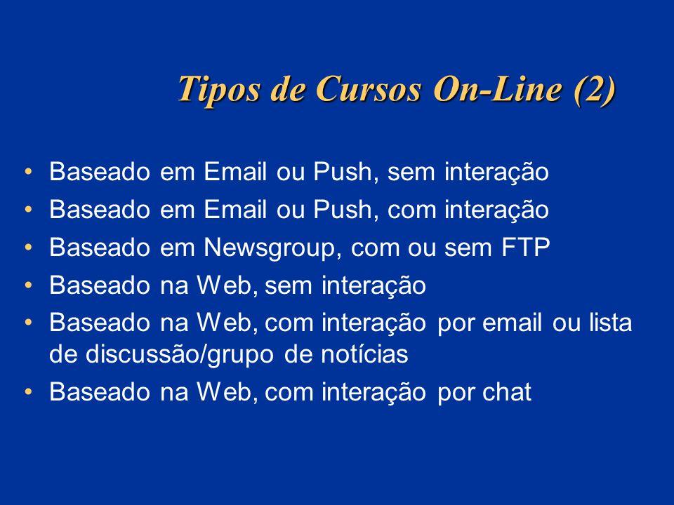 Tipos de Cursos On-Line (2)