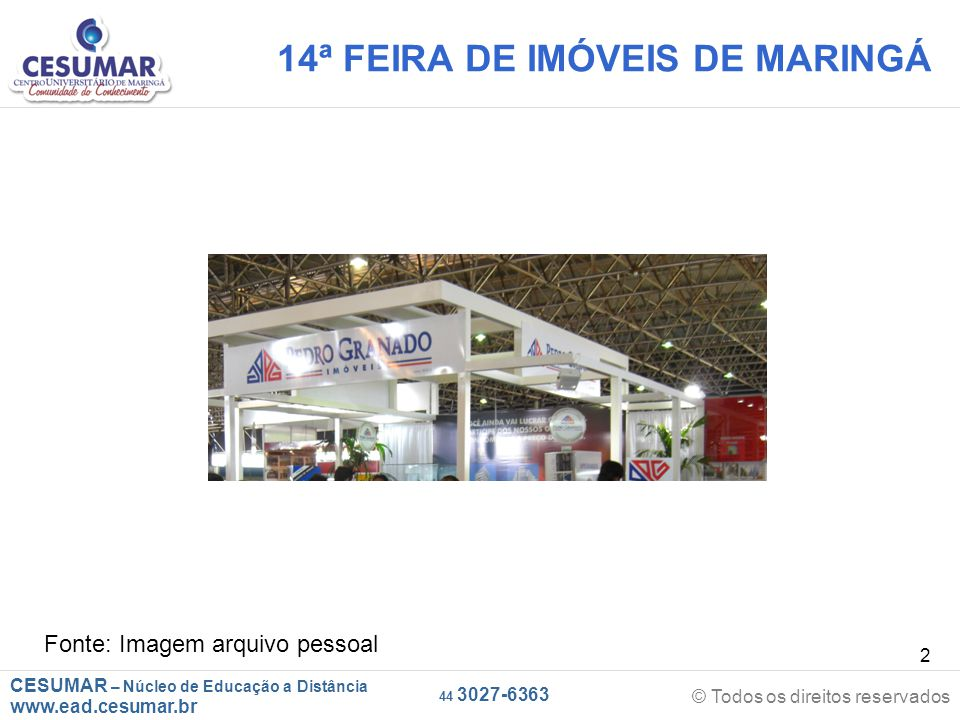 14ª FEIRA DE IMÓVEIS DE MARINGÁ