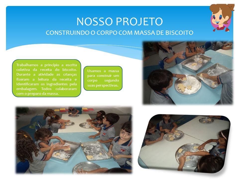 NOSSO PROJETO CONSTRUINDO O CORPO COM MASSA DE BISCOITO