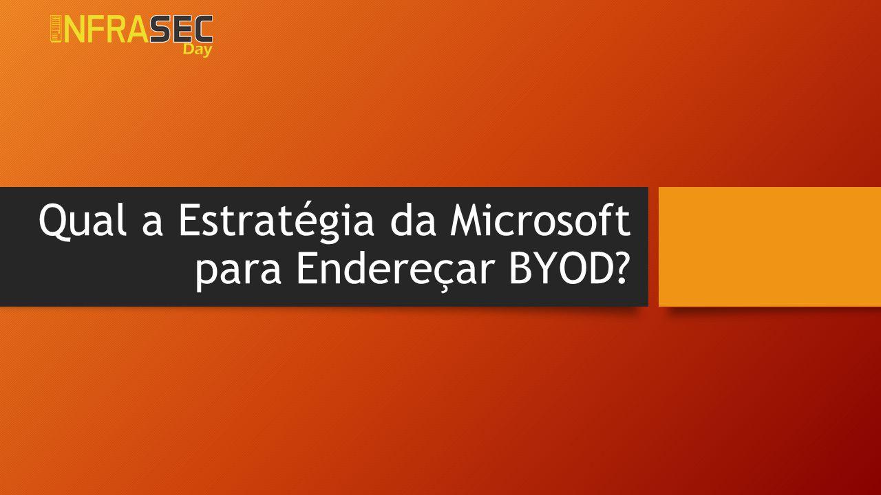 Qual a Estratégia da Microsoft para Endereçar BYOD