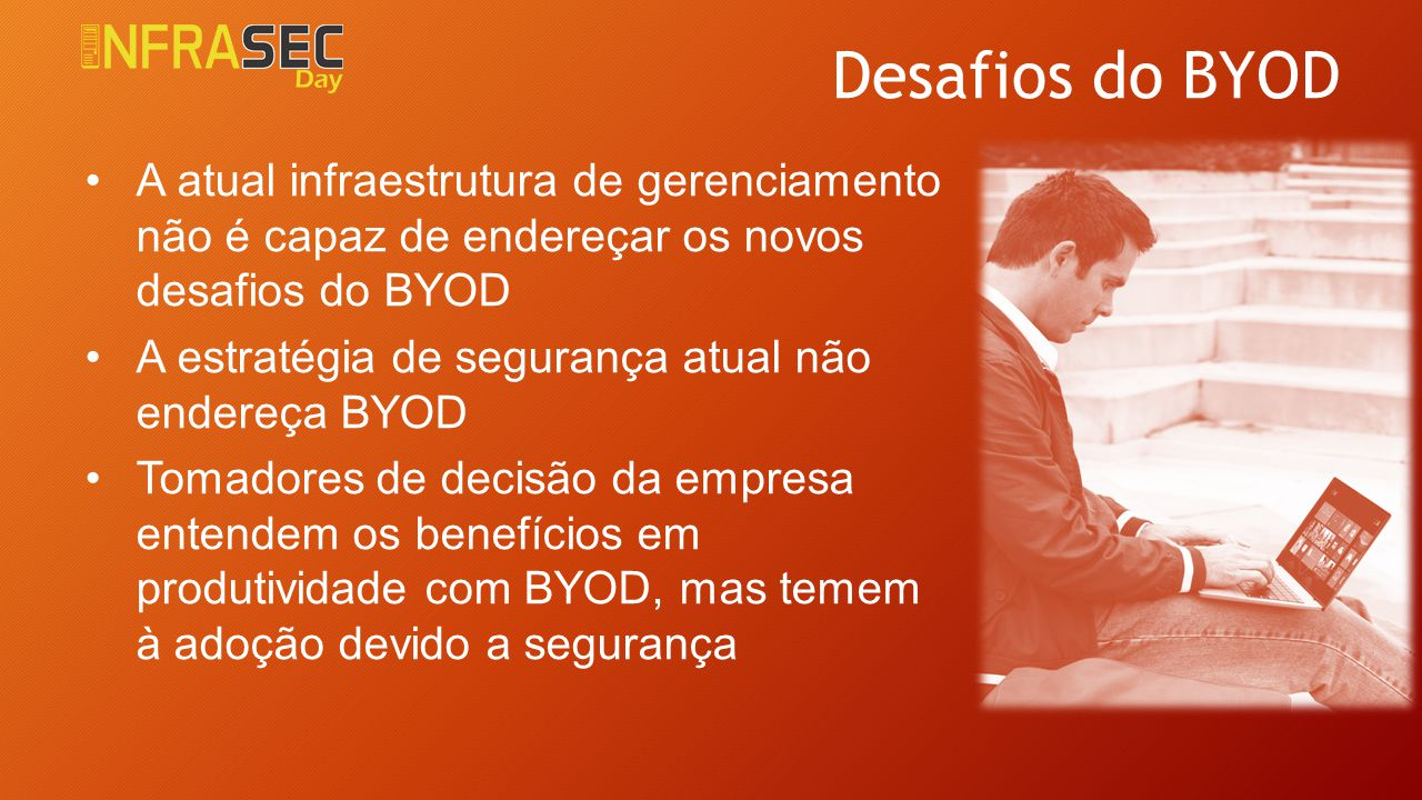 4/6/2017 Desafios do BYOD. A atual infraestrutura de gerenciamento não é capaz de endereçar os novos desafios do BYOD.