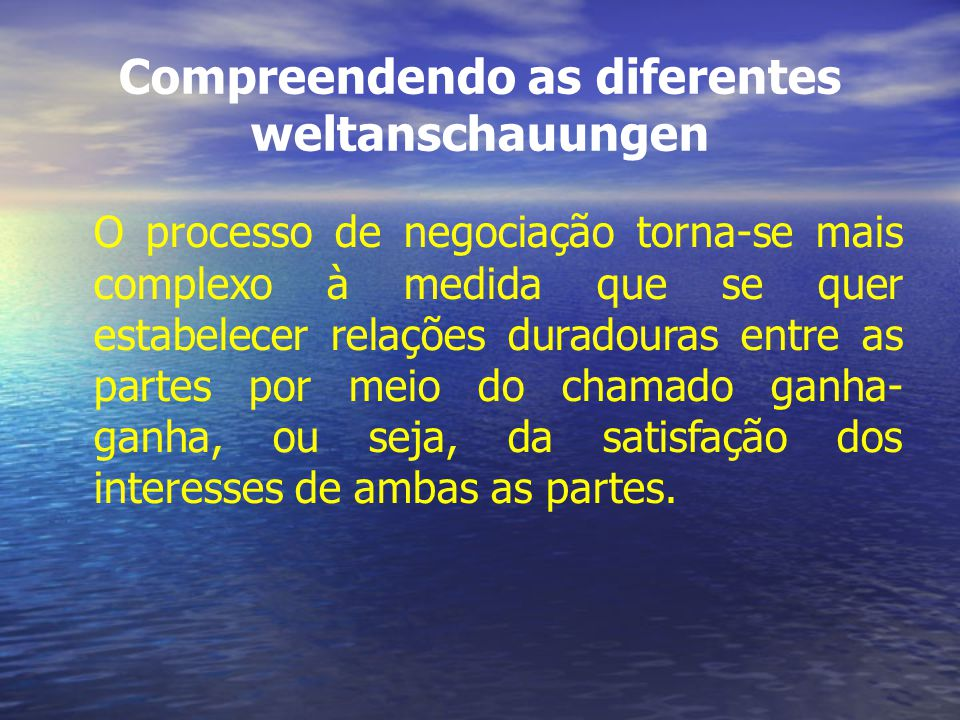 Compreendendo as diferentes weltanschauungen