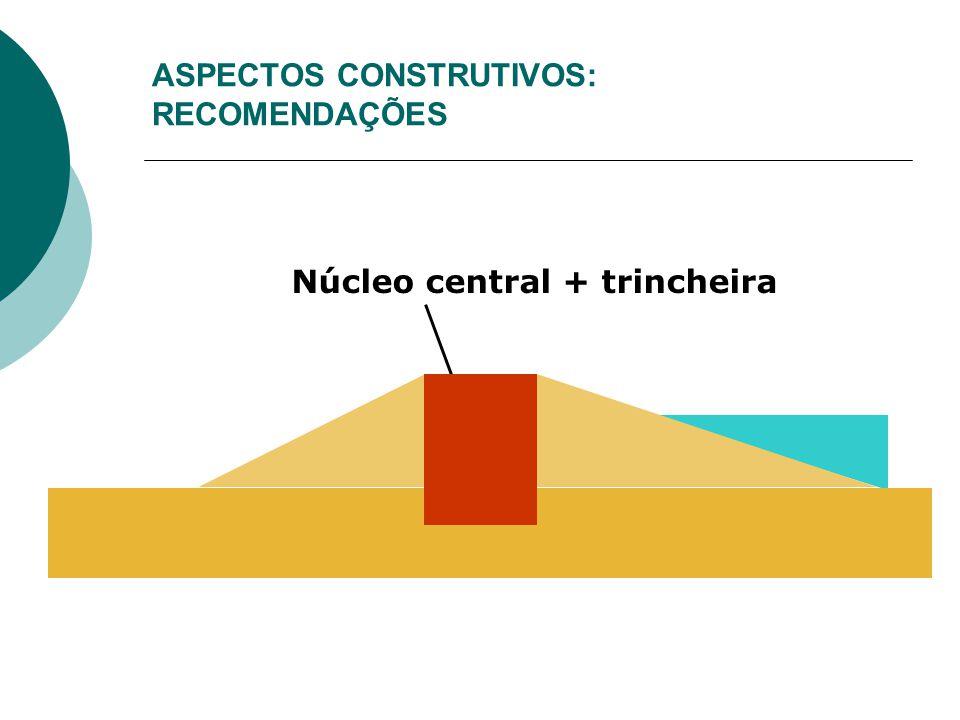 ASPECTOS CONSTRUTIVOS: RECOMENDAÇÕES