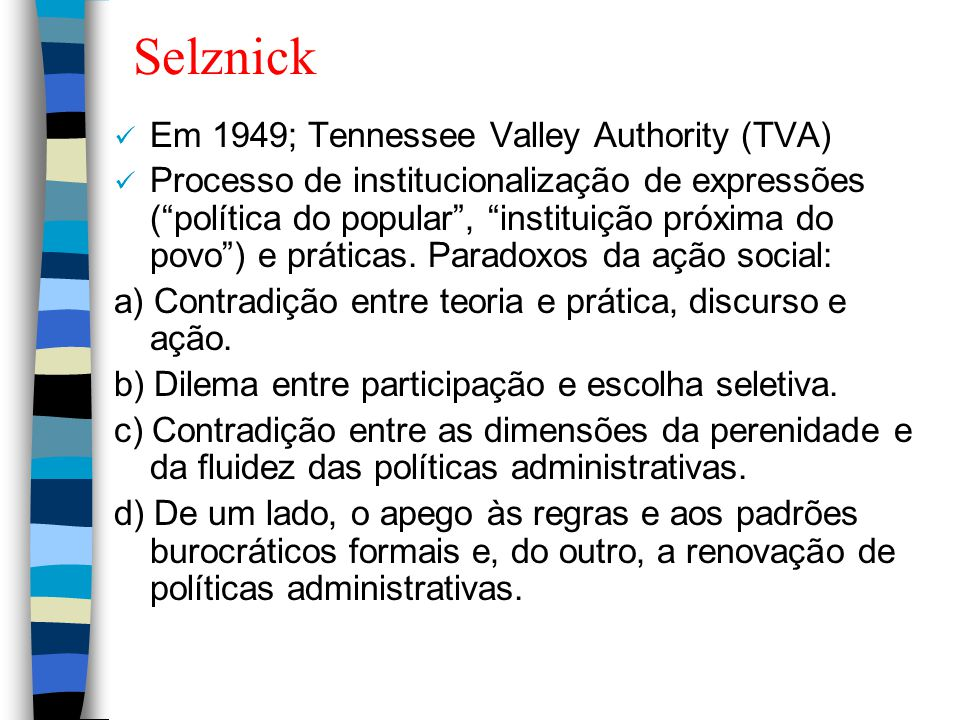 Selznick Em 1949; Tennessee Valley Authority (TVA)
