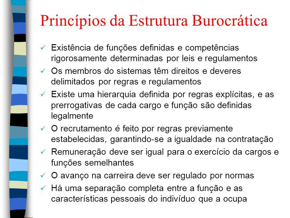 Princípios da Estrutura Burocrática