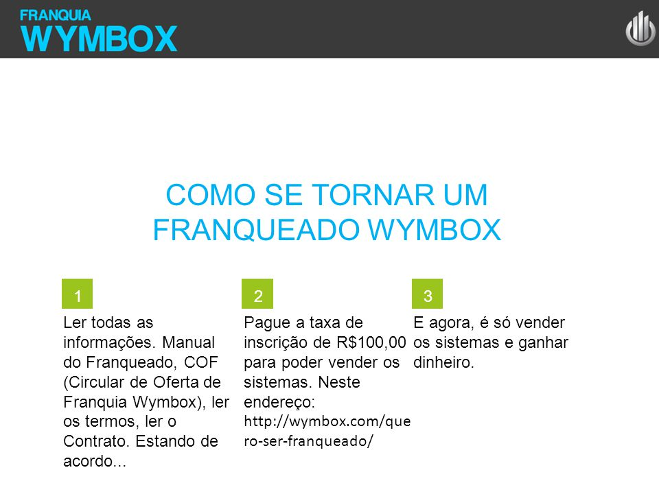 COMO SE TORNAR UM FRANQUEADO WYMBOX 1 2 3