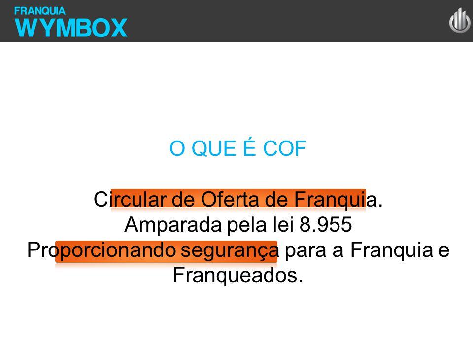 Circular de Oferta de Franquia. Amparada pela lei 8.955