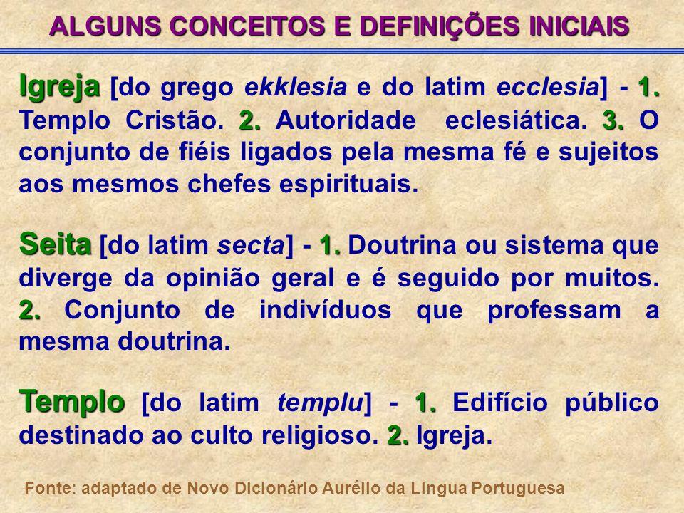 ALGUNS CONCEITOS E DEFINIÇÕES INICIAIS