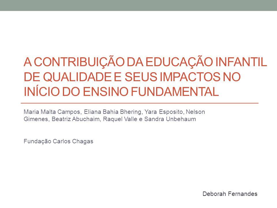 A contribuição da educação infantil de qualidade e seus impactos no início do ensino fundamental