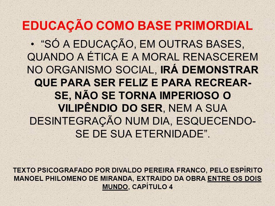 EDUCAÇÃO COMO BASE PRIMORDIAL