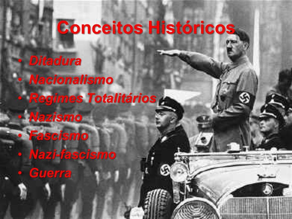 Conceitos Históricos Ditadura Nacionalismo Regimes Totalitários