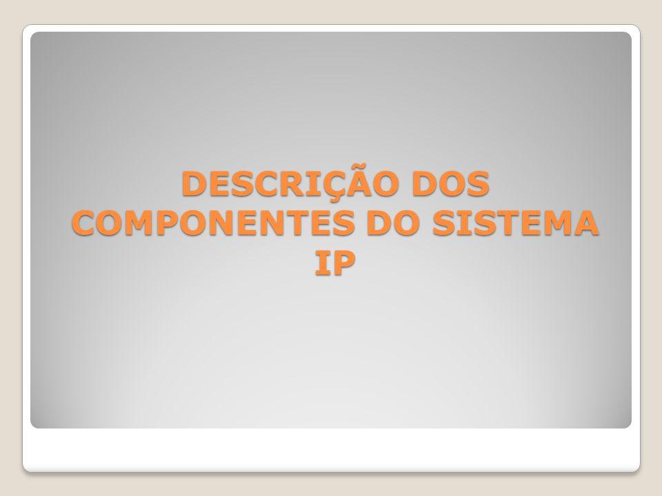 DESCRIÇÃO DOS COMPONENTES DO SISTEMA IP
