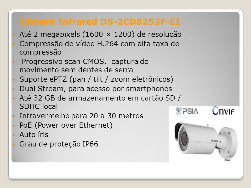 Câmera Infrared DS-2CD8253F-EI