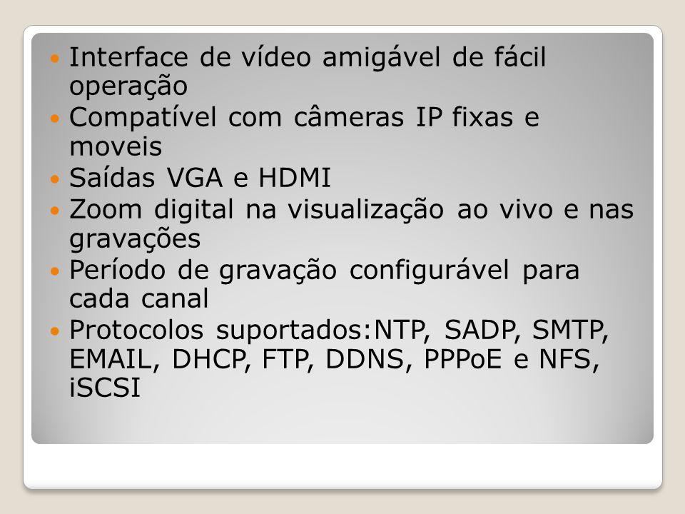 Interface de vídeo amigável de fácil operação