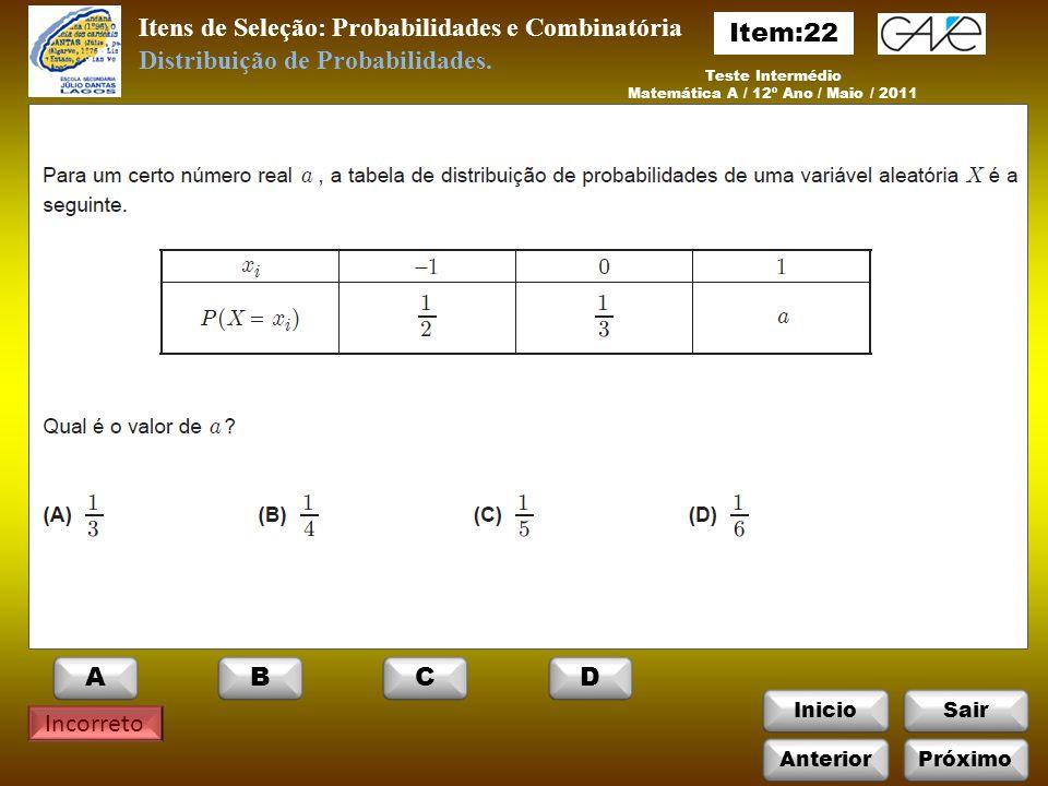 Matemática A / 12º Ano / Maio / 2011