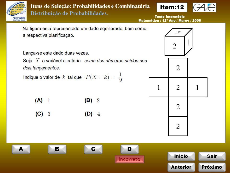 Matemática / 12º Ano / Março / 2006