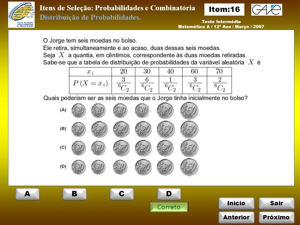 Matemática A / 12º Ano / Março / 2007
