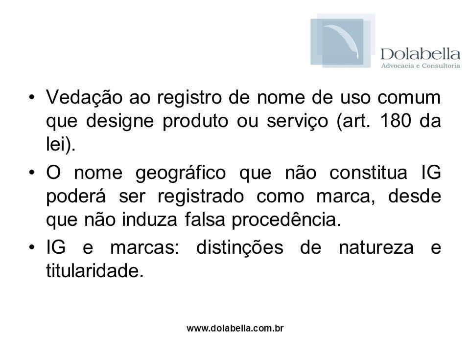 IG e marcas: distinções de natureza e titularidade.
