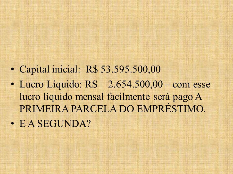 Capital inicial: R$ 53.595.500,00