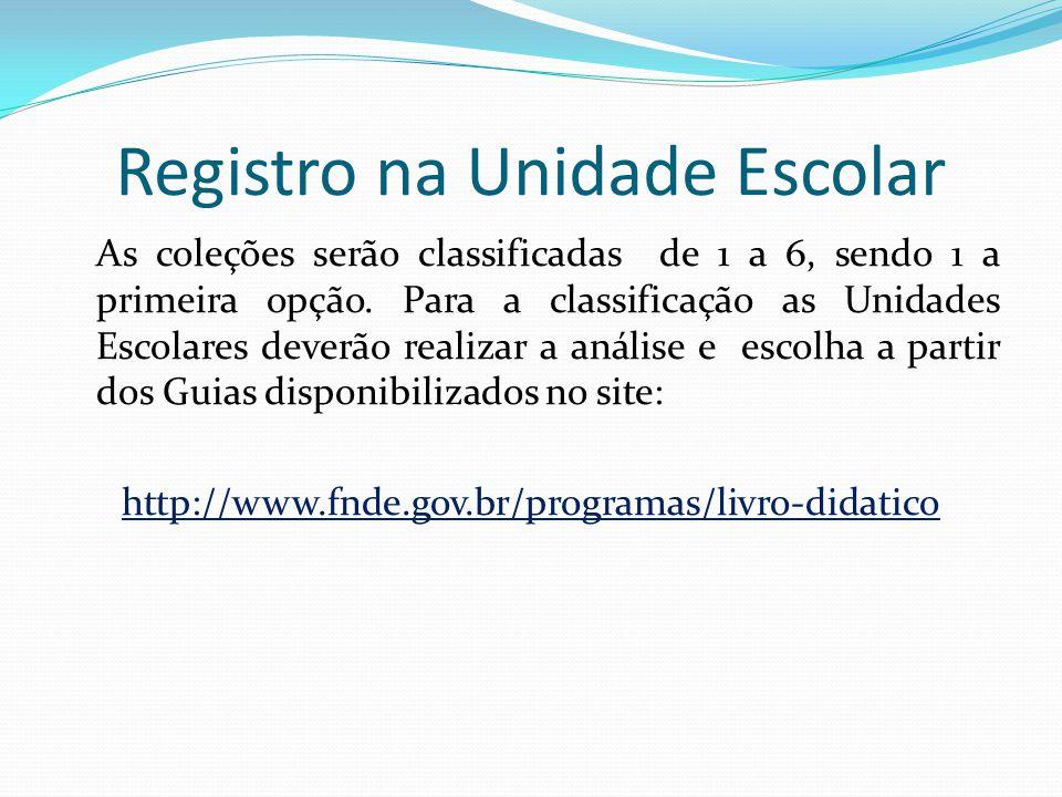 Registro na Unidade Escolar
