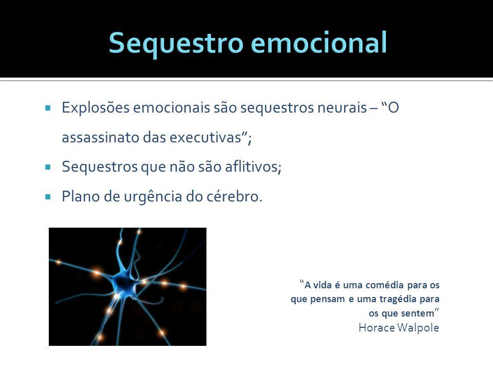 Sequestro emocional Explosões emocionais são sequestros neurais – O assassinato das executivas ; Sequestros que não são aflitivos;