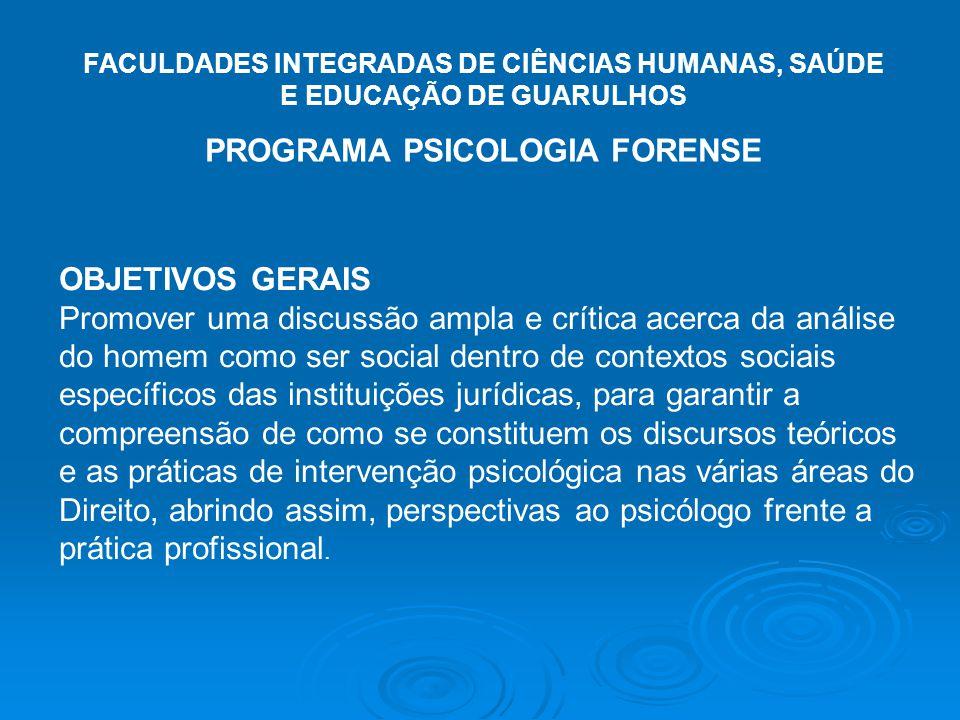 PROGRAMA PSICOLOGIA FORENSE