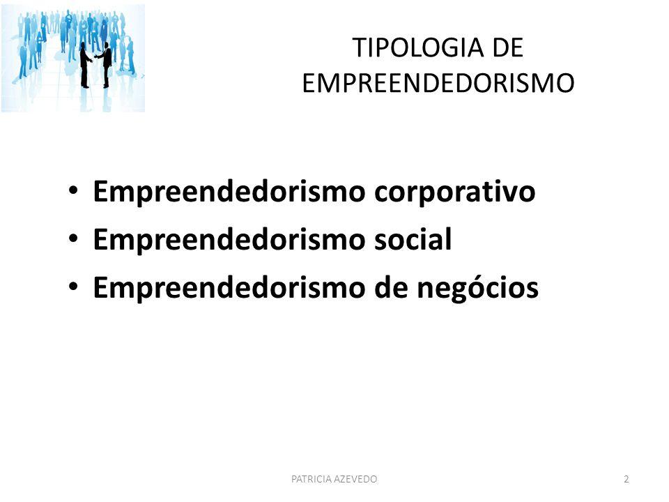 TIPOLOGIA DE EMPREENDEDORISMO