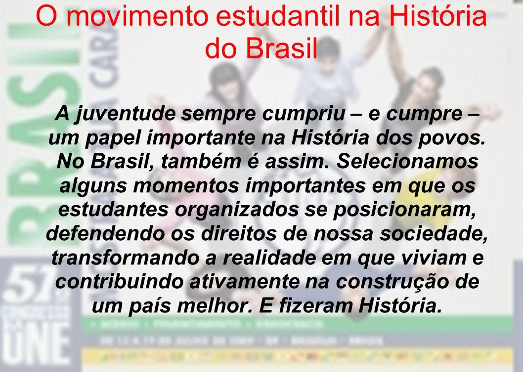 O movimento estudantil na História do Brasil
