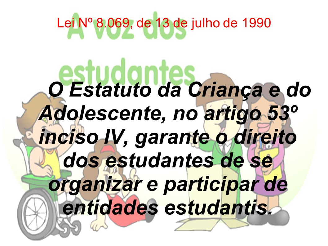 Lei Nº 8.069, de 13 de julho de 1990