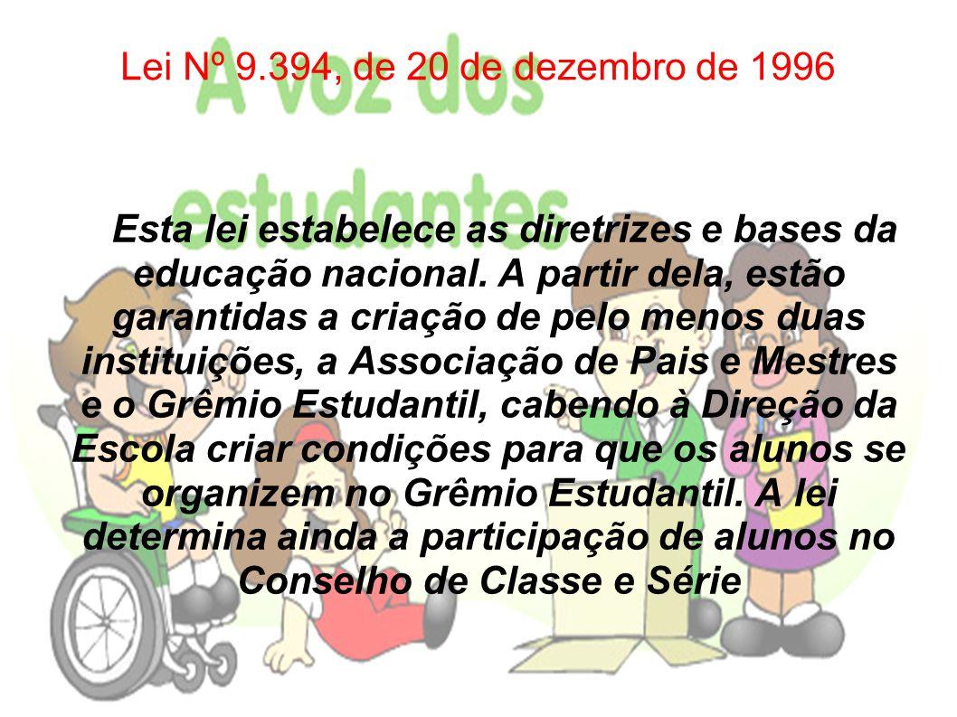Lei Nº 9.394, de 20 de dezembro de 1996